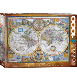 Eurographics Antique World Map - 1000 Piece Puzzle