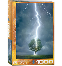 Eurographics Lightning Striking Tree - 1000 Piece Puzzle