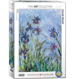 Eurographics Irises (Detail) by Claude Monet - 1000 Piece Puzzle