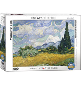 Eurographics Wheat Field with Cypresses - 1000 Piece Puzzle