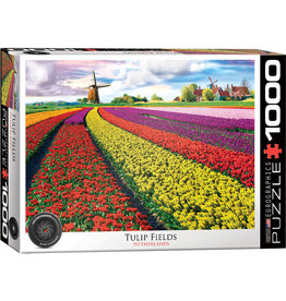 Eurographics Tulip Fields, Netherlands - 1000 Piece Puzzle