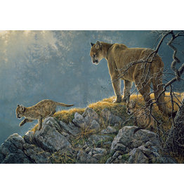 Cobble Hill Excursion - Cougar and Kits - 350 Piece Puzzle