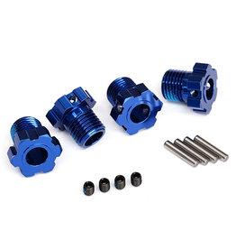 Traxxas 8654 - 17mm Wheel Hubs Splined for Maxx, E-Revo - Blue