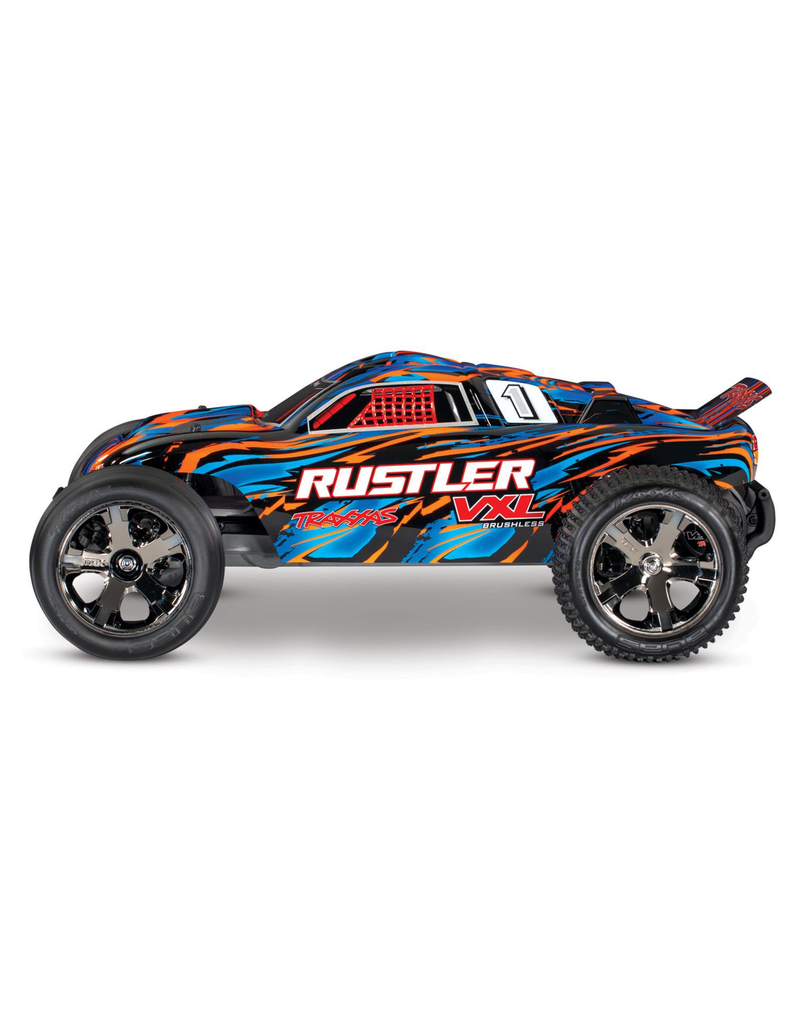 Traxxas 1/10 Rustler VXL RTR 2WD Brushless Stadium Truck - OrangeX