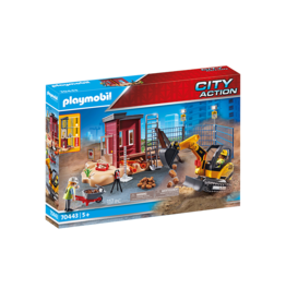 Playmobil 70443 - Mini Excavator with Building Section
