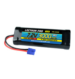 Common Sense RC Lectron Pro NiMH 7.2V (6-cell) 3000mAh Flat Pack with EC3 Connector