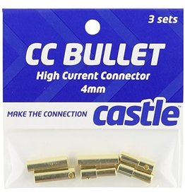 Castle Creations Castle Creations - 4mm Bullet Connector 16G/13G - 75A