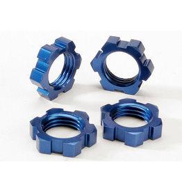 Traxxas 5353 - Wheel Nuts, Splined, 17mm - Blue-Anodized