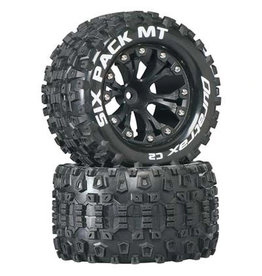 Duratrax DTXC3522 - SpeedTreads Sixpack MT 2.8 Tires Mounted (2)