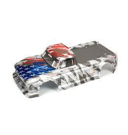 Arrma ARA410006 - Infraction 6S BLX Painted Body - Silver/Red