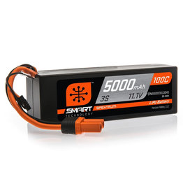 Spektrum SPMX50003S100H5 - 11.1V 5000mAh 3S 100C Smart Hardcase LiPo Battery: IC5