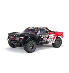 Arrma 1/10 SENTON 3S BLX V3 4WD Brushless Short Course Truck with Spektrum RTR - Red/Black