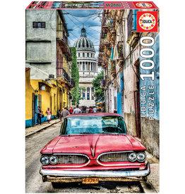Educa Vintage Car In Old Havana - 1000 Piece Puzzle