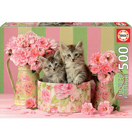 Educa Kittens With Roses - 500 Piece Puzzle