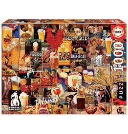 Educa Vintage Beer Collage - 1000 Piece Puzzle