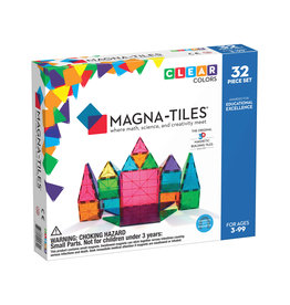 Valtech Magna-Tiles® Clear Colors 32-Piece Set