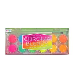 Ooly Chroma Blends Watercolor Paint Set - Neon