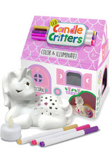 Bright Stripes Candle Critter - Unicorn LED /4