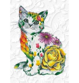 Diamond Dotz Flower Puss - Facet Art Kit