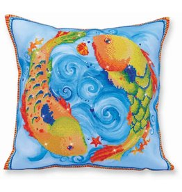 Diamond Dotz Dancing Fish Pillow - Facet Art Kit