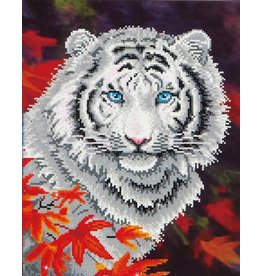 Diamond Dotz White Tiger in Autumn - Facet Art Kit