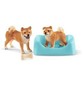 Schleich 42479 - Shiba Inu Mother and Puppy