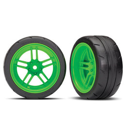"Traxxas 8374G - Split-Spoke Green Wheels / 1.9"" Response Tires"