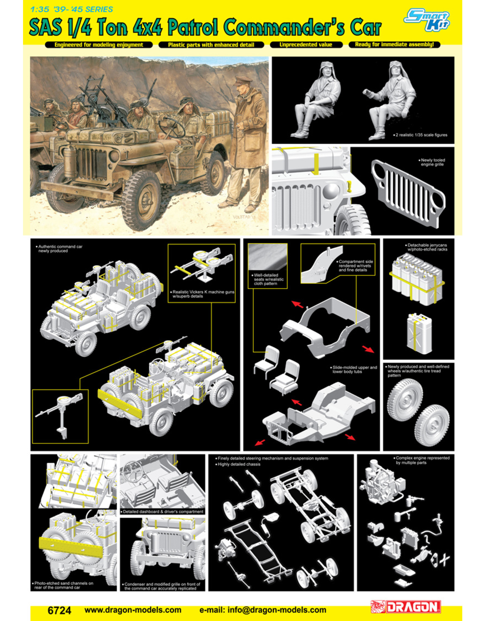 Dragon Models 6724 - 1/35 SAS 1/4 Ton 4x4 Patrol Commander's Car