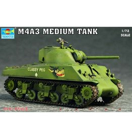 Trumpeter 7224 - 1/72 U.S. M4A3 Medium Tank