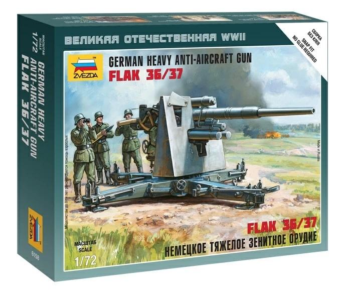 Z6158 Maquette Zvezda Flak 36//37 88MM Echelle 1:72
