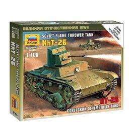 Zvezda 6165 - 1/100 Soviet Flame Thrower Tank KhT-26