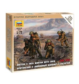 Zvezda 6168 - 1/72 British 3-inch Mortar with Crew