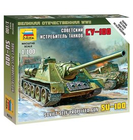 Zvezda 6211 - 1/100 Soviet SU-100 Self-Propelled Gun
