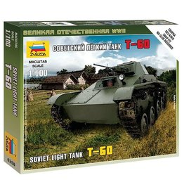 Zvezda 6258 - 1/100 Soviet T-60 Light Tank