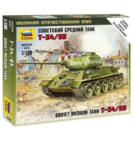 Zvezda 6160 - 1/100 Soviet T3.4/85 Medium Tank
