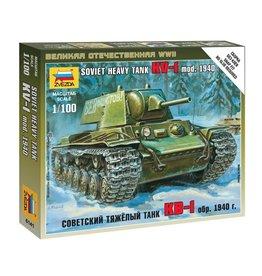 Zvezda 6141 - 1/100 Soviet KV-1 Mod 1940 Heavy Tank
