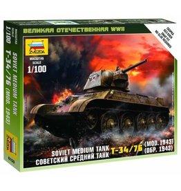Zvezda 6159 - 1/100 Soviet T34/76 Mod 1942 Medium Tank
