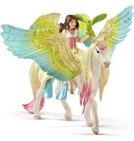 Schleich 70566 - Fairy Surah with Glitter Pegasus