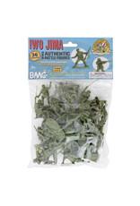 BMC 40034 - WWII IWO Jima US Marines Plastic Army Men - 36 Piece