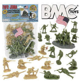 Stevens International 40032 - WWII IWO Jima Plastic Army Men - 32 Piece