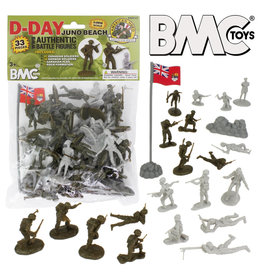 Stevens International 40033 - WWII D-Day Juno Beach Plastic Army Men - 33 Piece