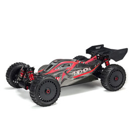 Arrma 1/8 TYPHON 6S BLX 4WD Brushless Buggy with Spektrum RTR - Red/Grey V5