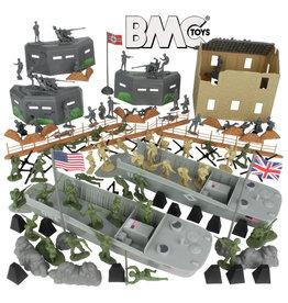 BMC 40009 - WWII D-Day Plastic Army Men - 114 Piece
