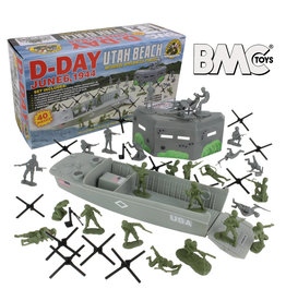 Stevens International 40027 - WWII D-Day Plastic Army Men Utah Beach - 40 Piece