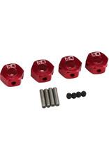 Hot Racing Hot Racing - 12mm Aluminum Wheel Hub Adapter 1/10 Granite/Senton (4)