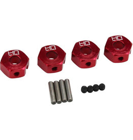 Hot Racing Hot Racing - 12mm Aluminum Wheel Hub Adapter 1/10 Granite/Senton (4)