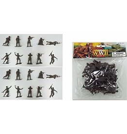 Stevens International 1/32 WWII Russian Infantry Toy Soldiers - 20 Piece