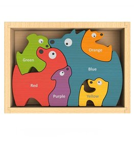 Begin Again Dog Family - 6 Piece Puzzle