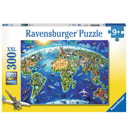 Ravensburger World Landmarks Map - 300 Piece Puzzle