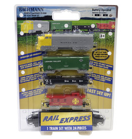 Bachmann Rail Express HO Scale Battery-Operated Train Set